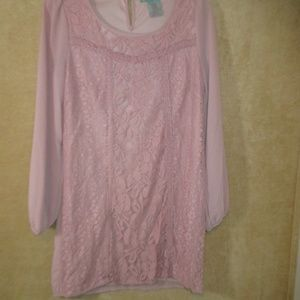 Flying Tomato Peach dress long sleeve size M